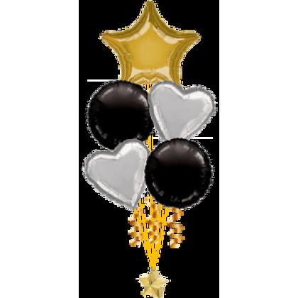 Balloon Centrepiece (5 Foil)