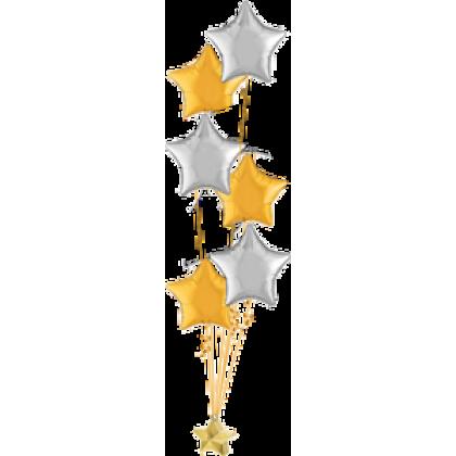 Balloon Centrepiece (8 Foil)