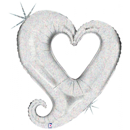 "B 37"" Chain Of Heart (Silver)"