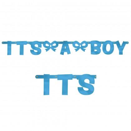 Baby Shower Boy Large Letter Banner
