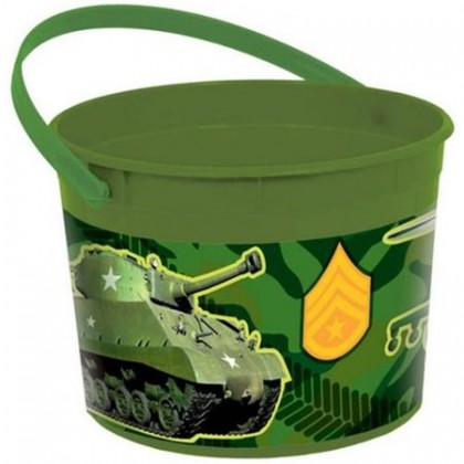 Camouflage Favor Container - Plastic