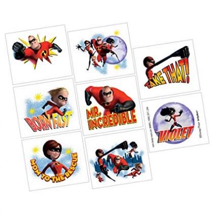 Disney Incredibles 2 Tattoo Favors