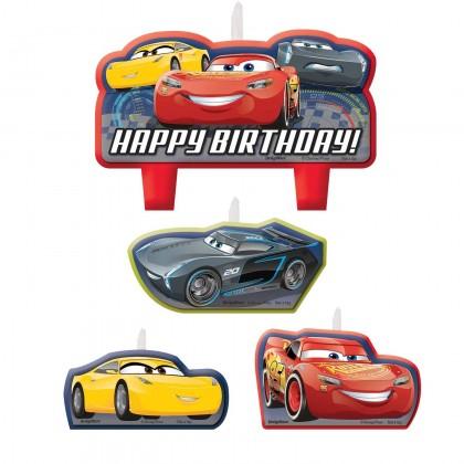 Disney Pixar Cars 3 Birthday Candle Set