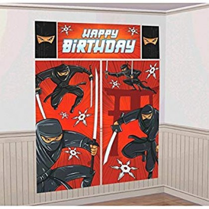 Ninja Scene Setters® Room Decorating Kit - Plastic