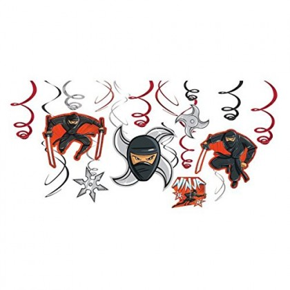 Ninja Value Pack Foil Swirl Decorations