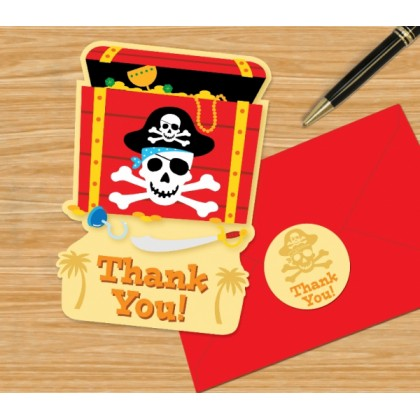 Pirate's Treasure Postcard Thank You Cards