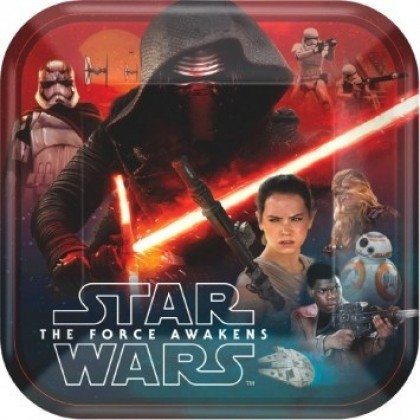 "Star Wars™ Episode VII Square Plates, 9"""
