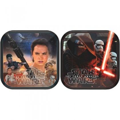 """Star Wars™ Episode VII Square Plates Asst., 7"""""""