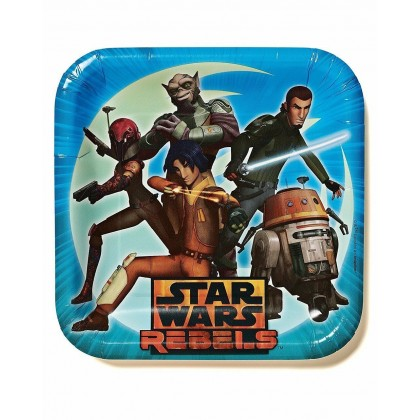 "Star Wars Rebels™ Square Plates, 9"""