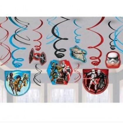 Star Wars Rebels™ Value Pack Foil Swirl Decorations