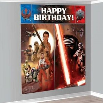 Star Wars™ Episode VII Scene Setters Wall Decorating Kit - Plastic