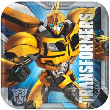 Transformers™ Core Square Plates, 7 in