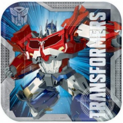 Transformers™ Core Square Plates, 9 in