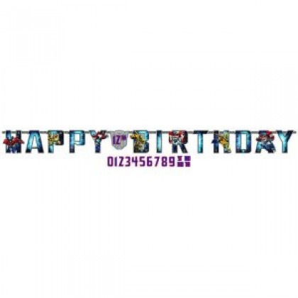 Transformers™ Core Jumbo Add-An-Age Letter Banner - Printed Paper