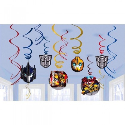 Transformers™ Core Value Pack Foil Swirl Decorations