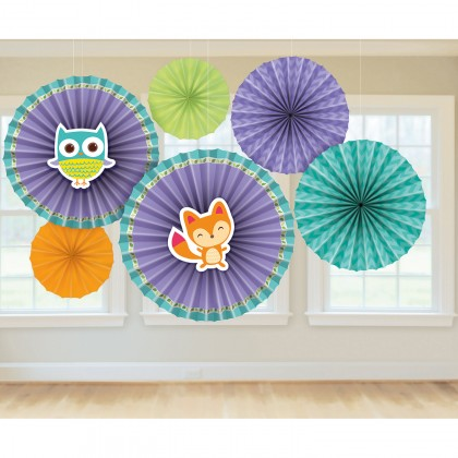 Woodland Welcome Fan Decorations - Paper