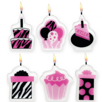 "1 1/4"" Another Year of Fabulous.. Mini Molded Birthday Candles"