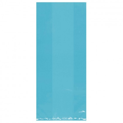 """11 1/2""""H x 5""""W x 3 1/4""""D Cello Party Bags CARIBBEAN BLUE (Large)"""