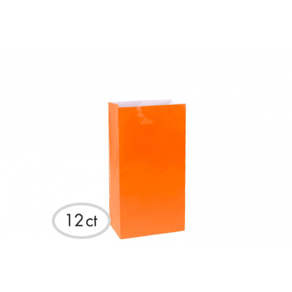 "10""H x 5 1/4""W x 3""D Packaged Paper Bags ORANGE PEEL (Large)"