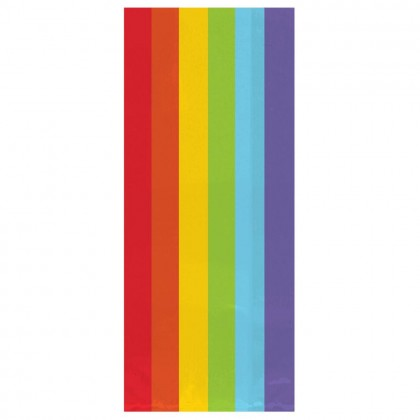 "11 1/2""H x 5""W x 3 1/4""D Cello Party Bags RAINBOW (Large)"