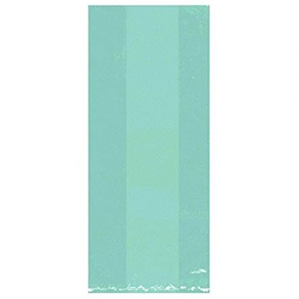 "11 1/2""H x 5""W x 3 1/4""D Cello Party Bags ROBIN'S-EGG BLUE (Large)"