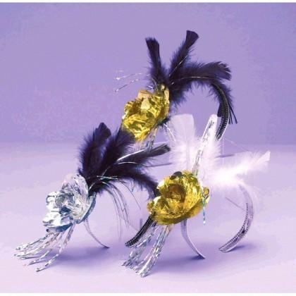 "5"" x 7"" Evening Elegance Rose & Feather Tiara"