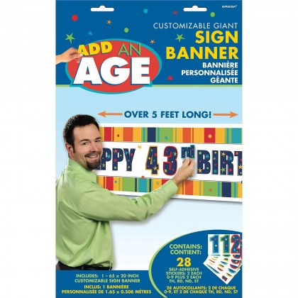 A Year To Celebrate - Happy Birthday Customizable Giant Sign Banner