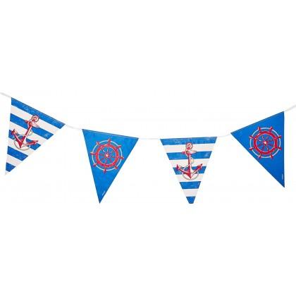 Anchors Aweigh Pennant Banner - Plastic