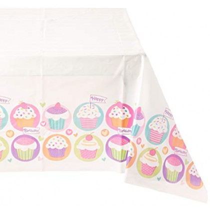 Cupcake Party Plastic Table Cover
