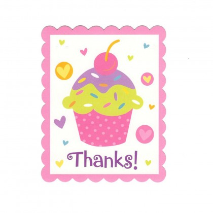 Cupcake Party Postcard Thank You Cards