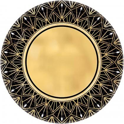 "Glitz & Glam Metallic Round Plates, 10 1/2"""