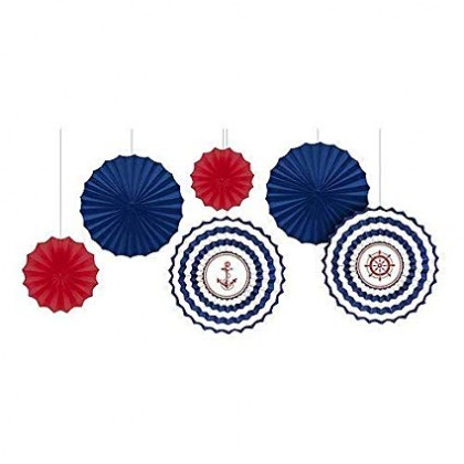 Nautical Fan Decorations Paper