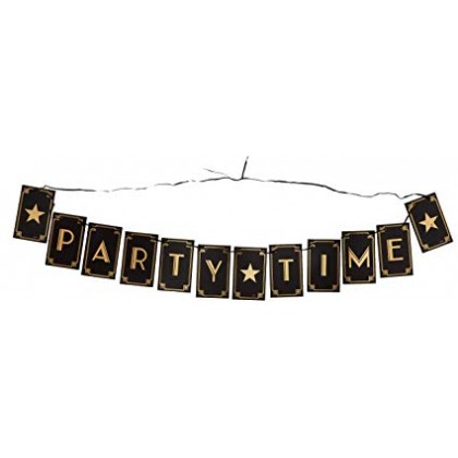 Party Time Ribbon Letter Banner - H-S Cardboard Pennants