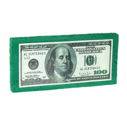 Place Your Bets 100 Dollar Bill Conventional Piñata