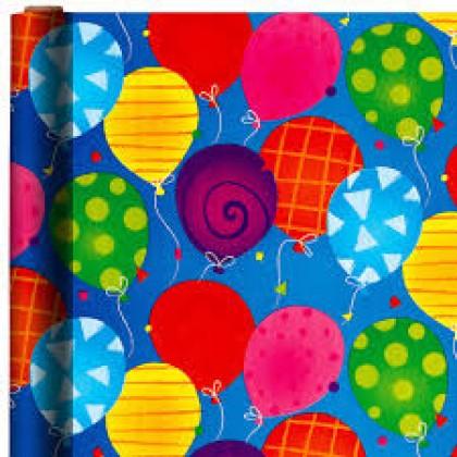 """16' x 30"""" Bright Balloons Jumbo Embossed"""