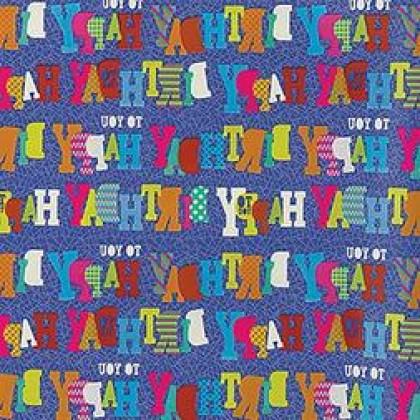 "5' x 30"" Gift Wrap Blue Birthday Printed Value"