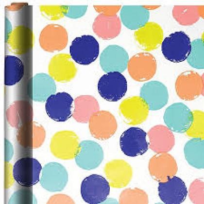 "16 x 30"" Gift Wrap Dots Printed Jumbo"