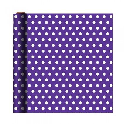 """16' x 30"""" Polka Dot - Purple Gift Wrap"""