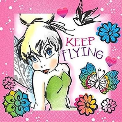 ©Disney Tinker Bell Keep Flying Beverage Napkins