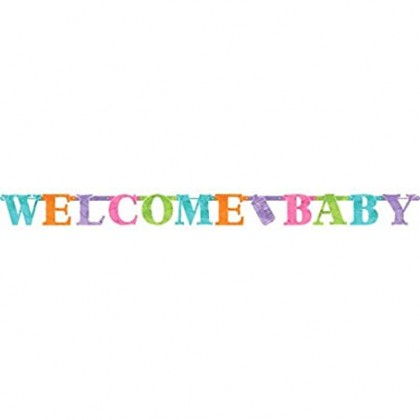 Baby Sprinkle Neutral Letter Banner - Foil