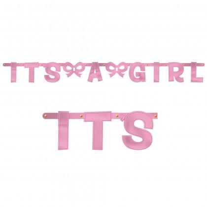 Baby Shower Girl Large Letter Banner - Foil
