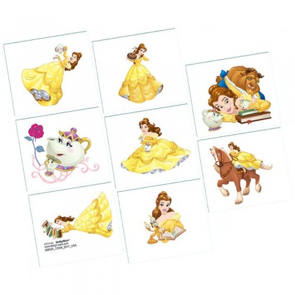 ©Disney Beauty and the Beast Tattoo Favors