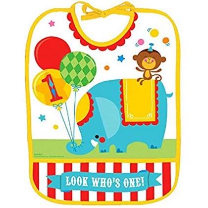 Fisher Price™ 1 st Birthday Circus Baby Bib - Vinyl
