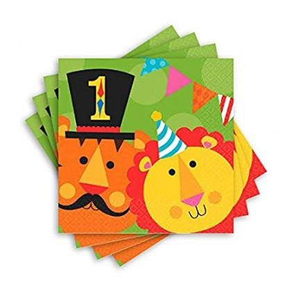 Fisher Price™ 1st Birthday Circus Luncheon Napkins