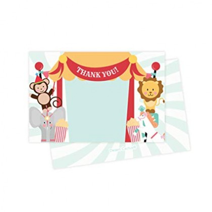 Fisher Price™ 1st Birthday Circus Postcard Thank You Cards