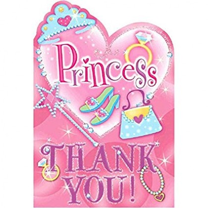 Princess Postcard Thank You Cards