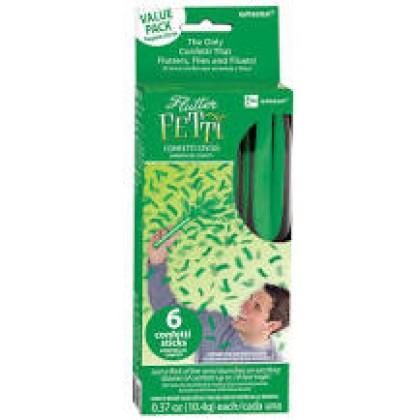"""6"""" Flutter Fetti - Green"""