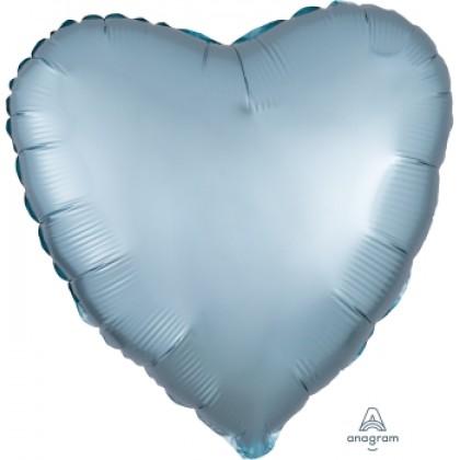 "S15 17"" Satin Luxe™ Pastel Blue Standard Heart HX®"