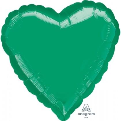 "P20 32"" Metallic Emerald Green Jumbo Heart"