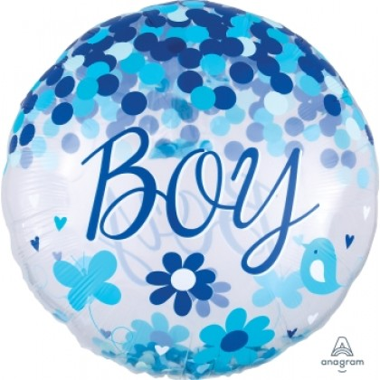 "P60 28"" Confetti Balloon Baby Boy Insiders™"